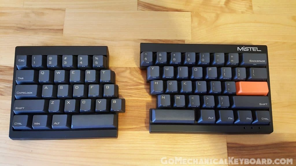 mistel barocco mechanical keyboard split